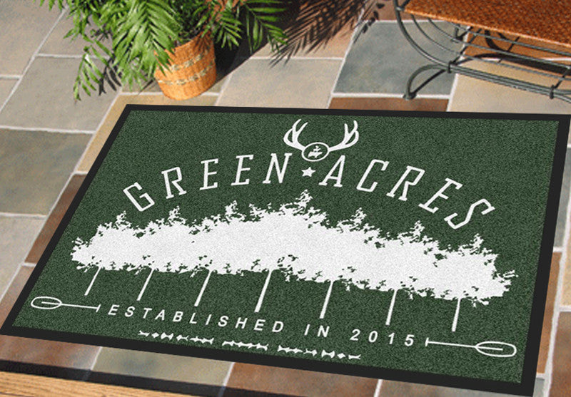 Green acres 2 X 3 Rubber Backed Carpeted HD - The Personalized Doormats Company