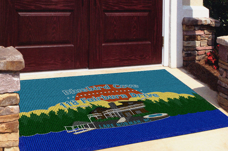 Bluebird Cove 4 X 6 Waterhog Impressions - The Personalized Doormats Company
