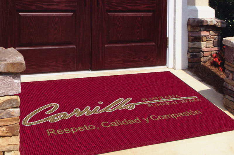 CARRILLO FUNERAL HOME 4 X 6 Waterhog Impressions - The Personalized Doormats Company