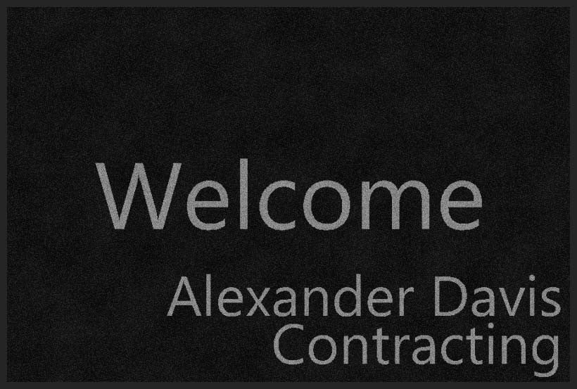 ALEXANDER DAVIS CONTRACTING 2 X 3 Rubber Backed Carpeted - The Personalized Doormats Company