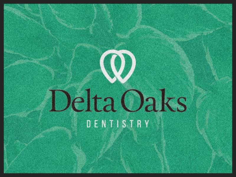 Delta Oaks Dentistry 3 X 4 Rubber Backed Carpeted HD - The Personalized Doormats Company