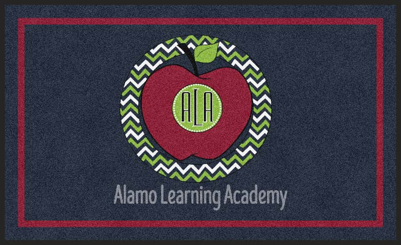 Alamo Learning Academy 3 X 5 Rubber Backed Carpeted HD - The Personalized Doormats Company