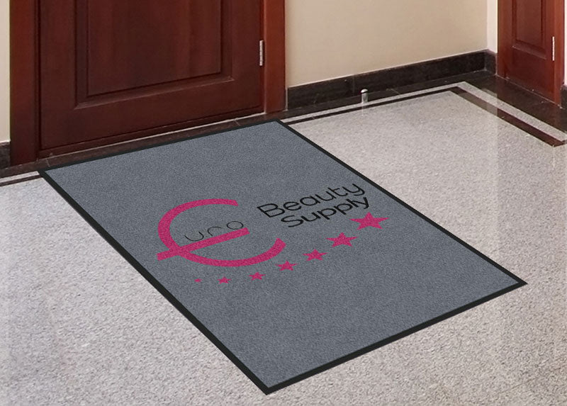 Euro Beauty Supplies 3 X 4 Rubber Backed Carpeted HD - The Personalized Doormats Company