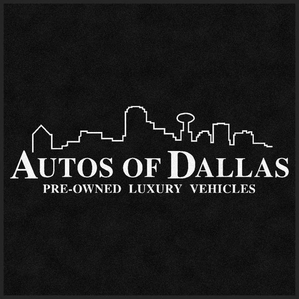AOD Plano 4 X 4 Rubber Backed Carpeted HD - The Personalized Doormats Company