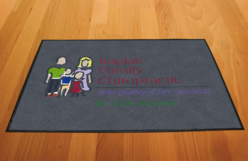 Kaplan Chiro 2 X 3 Rubber Backed Carpeted HD - The Personalized Doormats Company