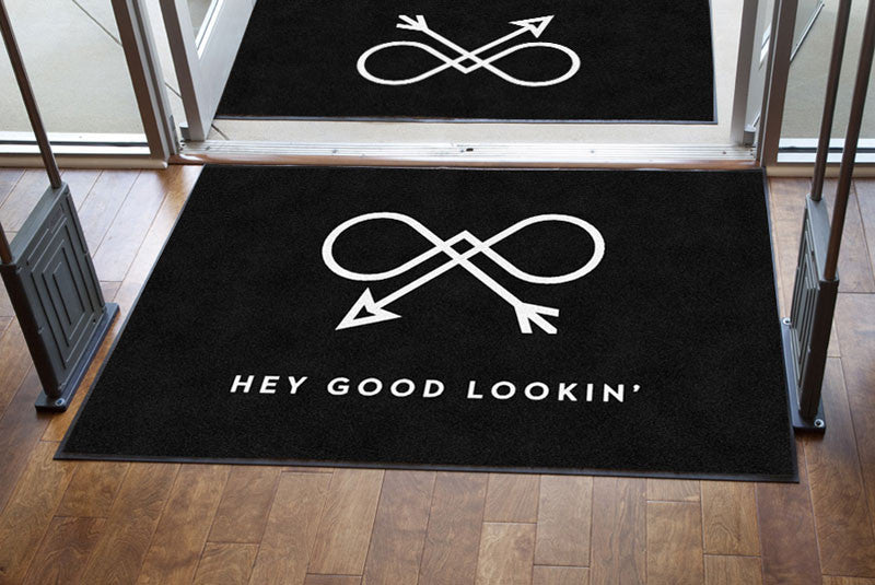 Bow & Arrow Collection 4 x 6 Rubber Backed Carpeted HD - The Personalized Doormats Company