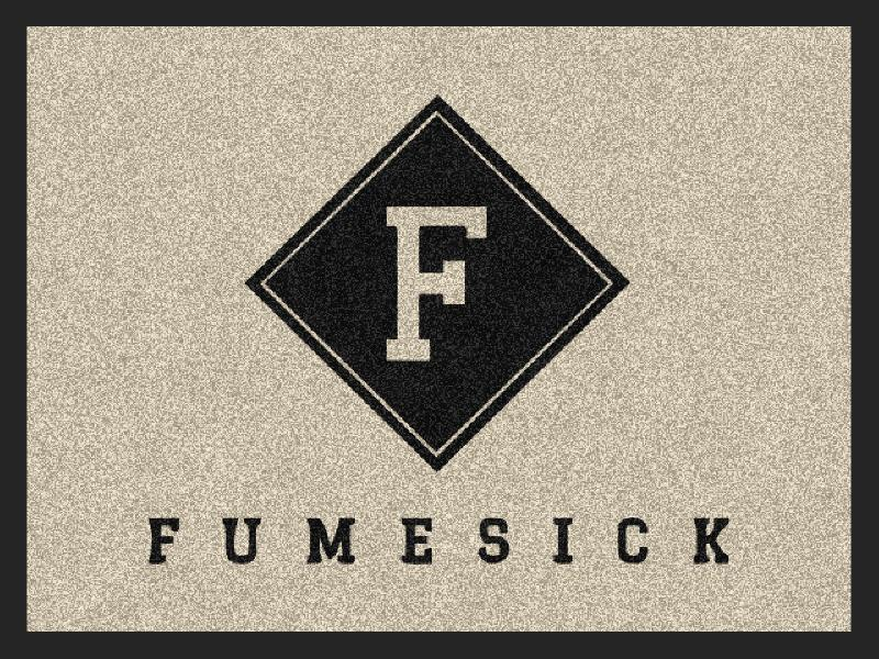 FUMESICK 1.5 X 2 Rubber Backed Carpeted HD - The Personalized Doormats Company