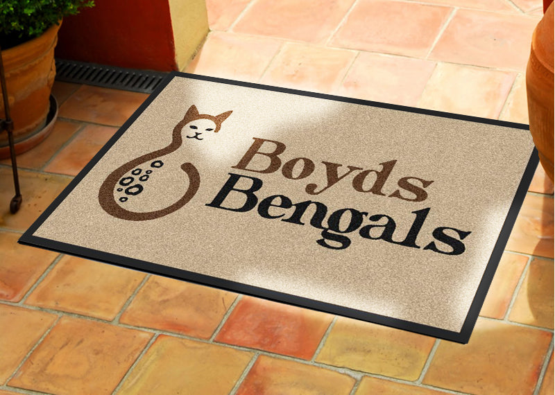 Boyd Gift 2 X 3 Rubber Backed Carpeted HD - The Personalized Doormats Company