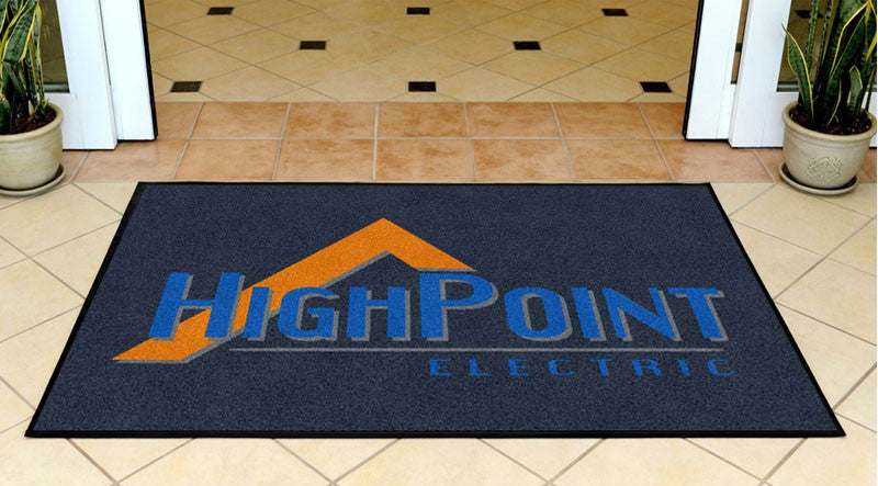 HighPoint Electric 3 X 5 Rubber Backed Carpeted HD - The Personalized Doormats Company