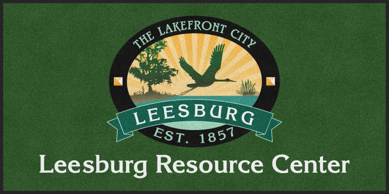 city of leesburg 4 X 8 Rubber Backed Carpeted HD - The Personalized Doormats Company