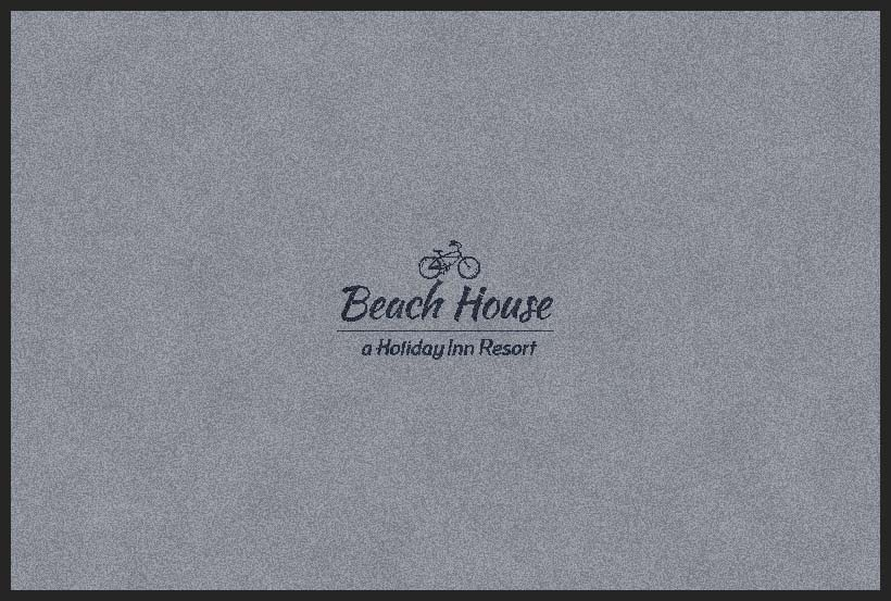 Beach House mat 4 X 6 Rubber Backed Carpeted HD - The Personalized Doormats Company