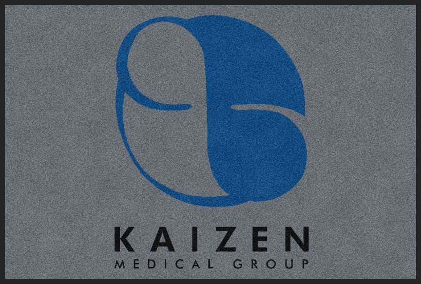 Kaizen Medical Group 2 X 3 Rubber Backed Carpeted HD - The Personalized Doormats Company