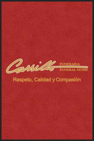 Carrillo funeral homes 4 X 6 Rubber Backed Carpeted HD - The Personalized Doormats Company