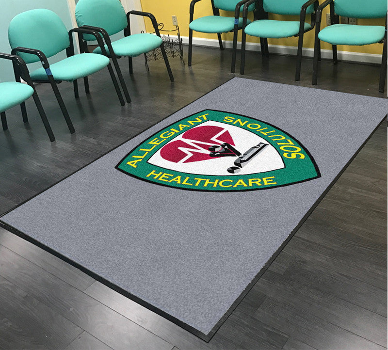 Allegiant Institute of Healthcare Soluti 5 X 8 Rubber Backed Carpeted HD - The Personalized Doormats Company