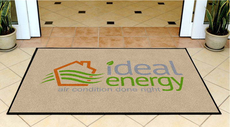 Ideal Energy LLC 2 3 X 5 Rubber Backed Carpeted HD - The Personalized Doormats Company