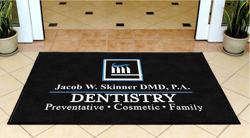 Dr. Jacob W Skinner 3 X 5 Rubber Backed Carpeted HD - The Personalized Doormats Company