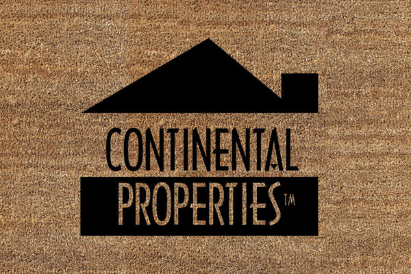 Continental mat 2 x 3 Flocked Classic Coir (PDC) - The Personalized Doormats Company