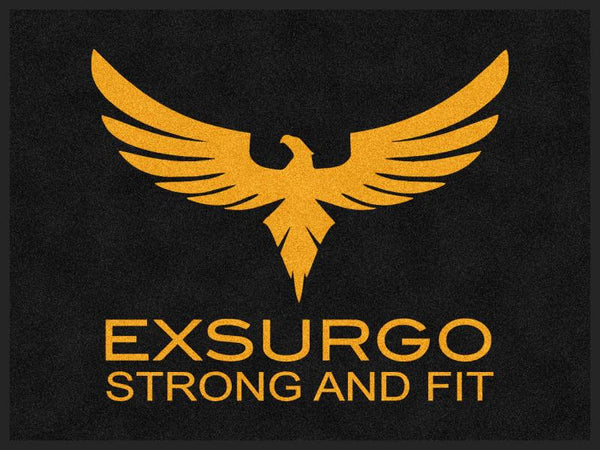 Exsurgo 3 X 4 Rubber Backed Carpeted HD - The Personalized Doormats Company