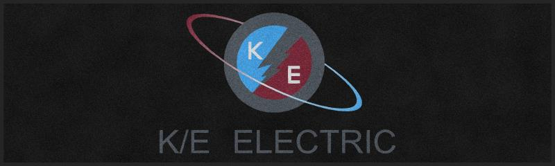 K/E Electric Supply 3 X 10 Rubber Backed Carpeted HD - The Personalized Doormats Company