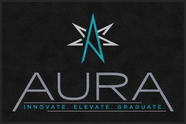60552 - Aura 4 X 6 Rubber Backed Carpeted HD - The Personalized Doormats Company