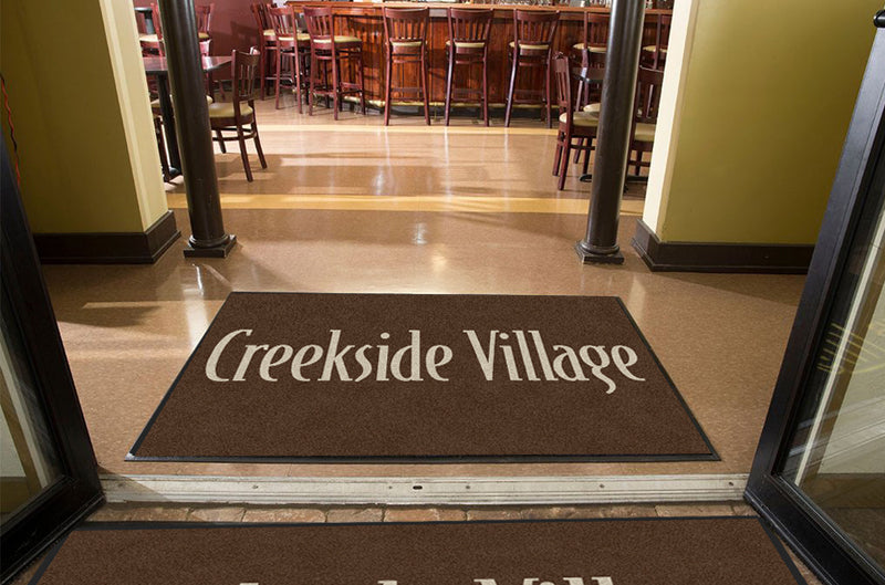 Creekside Village - 2 4 X 6 Rubber Backed Carpeted HD - The Personalized Doormats Company