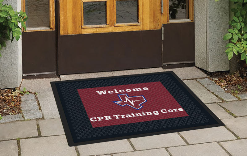 CPR Logo door mat 2.5 X 3 Rubber Scraper - The Personalized Doormats Company