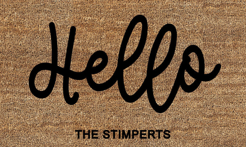 HELLO 18 X 30 Flocked Classic Coir (PDC) - The Personalized Doormats Company