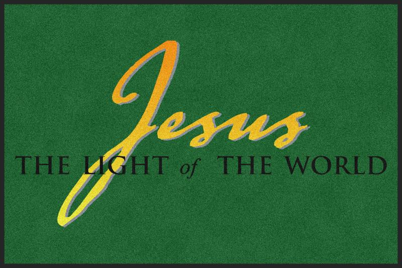 Jesus the Light of the World 4 X 6 Rubber Backed Carpeted HD - The Personalized Doormats Company