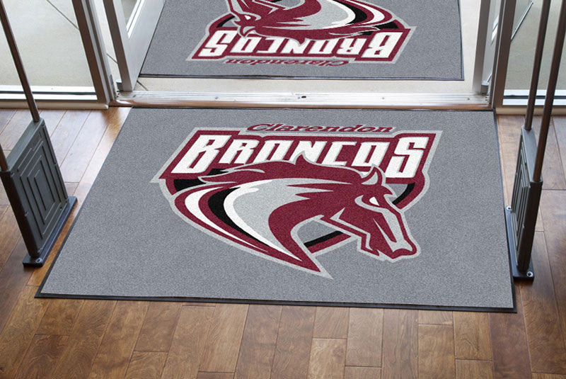 Clarendon CISD 4 X 6 Rubber Backed Carpeted HD - The Personalized Doormats Company