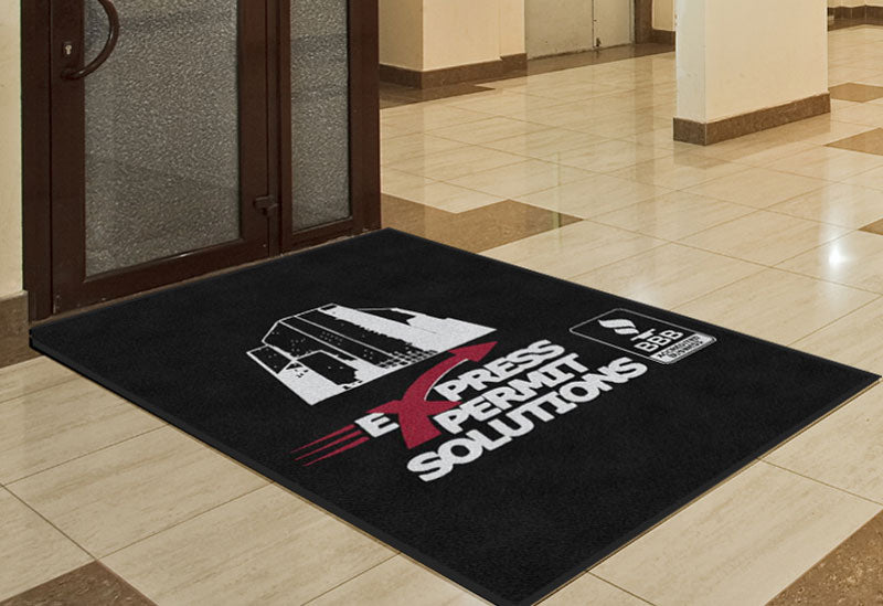 Express Permit Solutions 4 X 6 Rubber Backed Carpeted HD - The Personalized Doormats Company