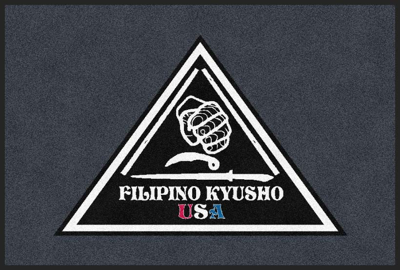 Filipino Kyusho USA 2 X 3 Rubber Backed Carpeted HD - The Personalized Doormats Company