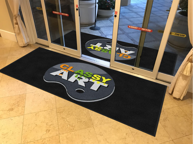 Classy Art Pallete 4 X 8 Rubber Backed Carpeted HD - The Personalized Doormats Company