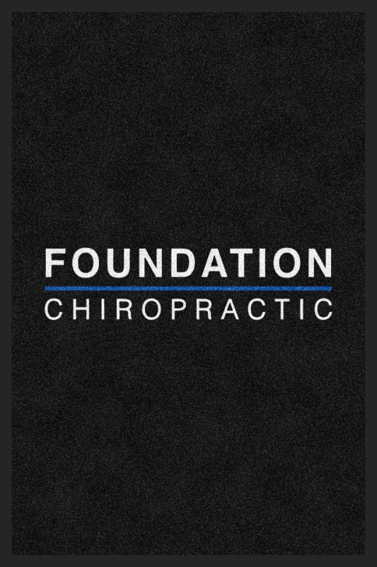 Foundation Chiropractic 2 X 3 Rubber Backed Carpeted HD - The Personalized Doormats Company