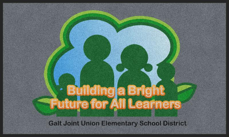 Galt Joint Union School District 3 X 5 Rubber Backed Carpeted HD - The Personalized Doormats Company