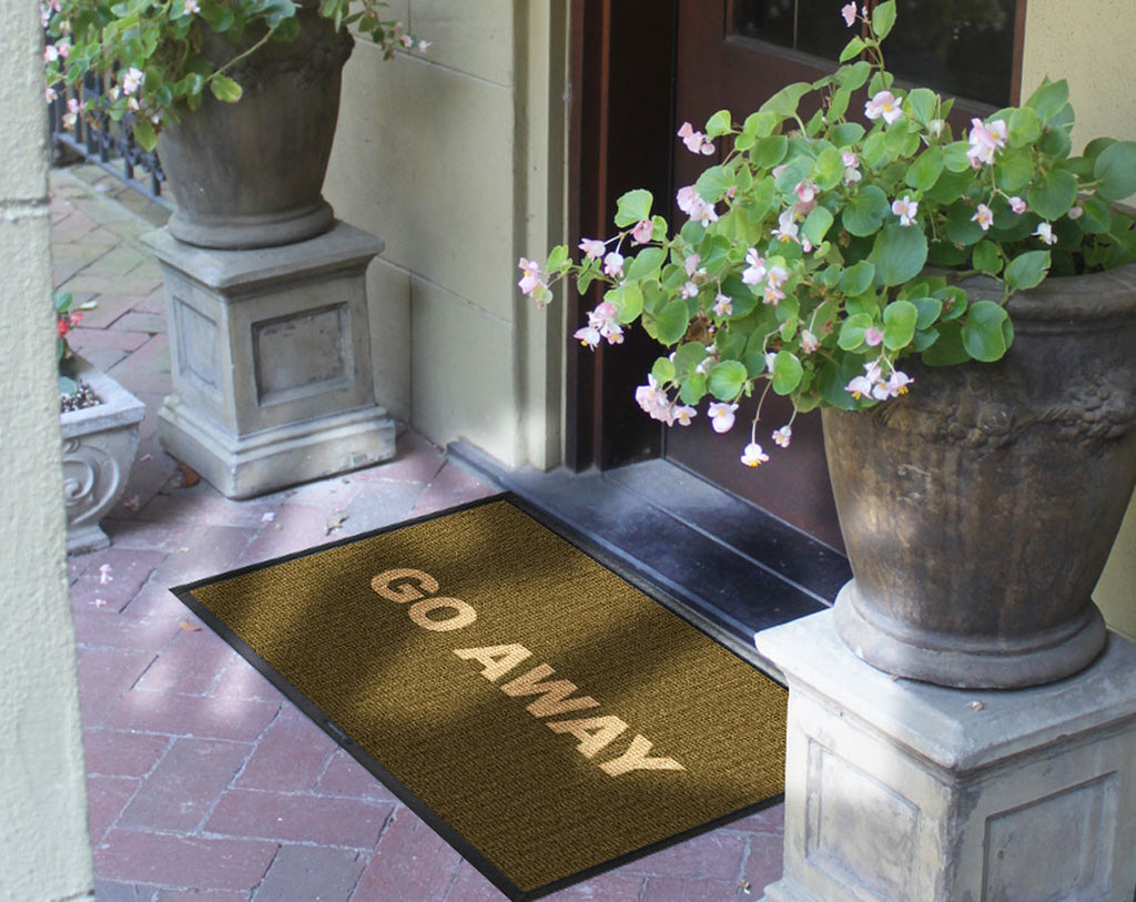 Go away 2 x 3 Waterhog Inlay - The Personalized Doormats Company