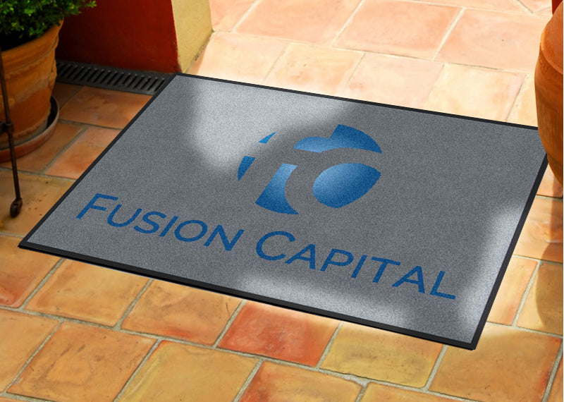 Fusion Capital 2 X 3 Rubber Backed Carpeted HD - The Personalized Doormats Company