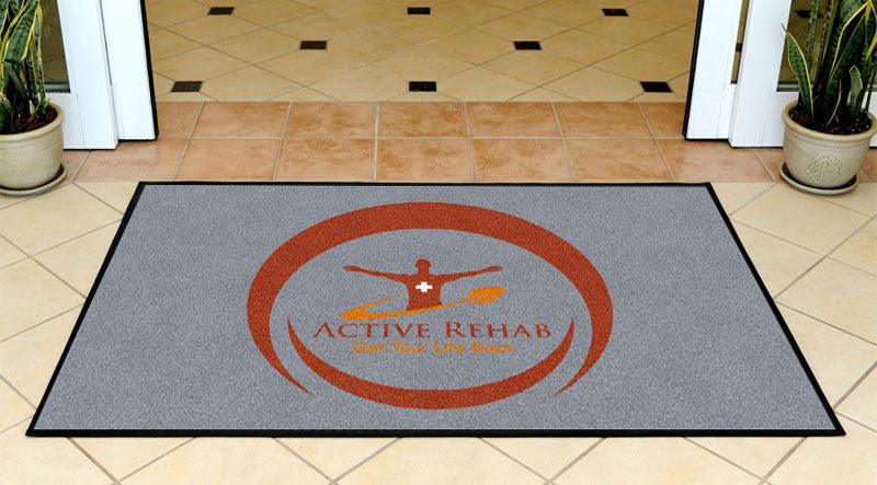 Active Rehab 3 X 5 Rubber Backed Carpeted HD - The Personalized Doormats Company