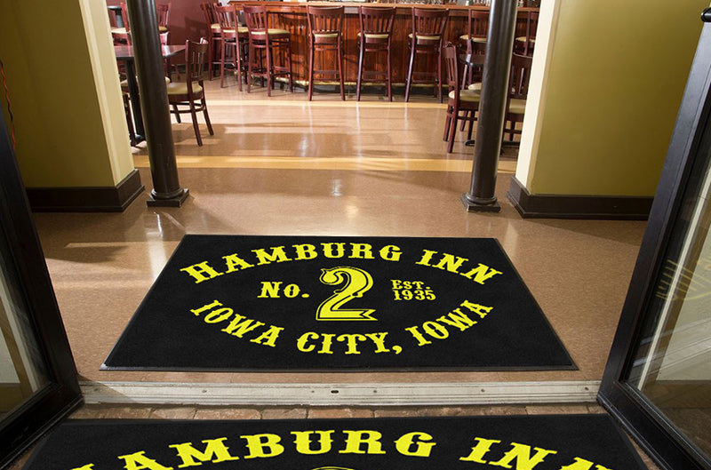 Hamburg Inn No. 2 4 X 6 Rubber Backed Carpeted HD - The Personalized Doormats Company