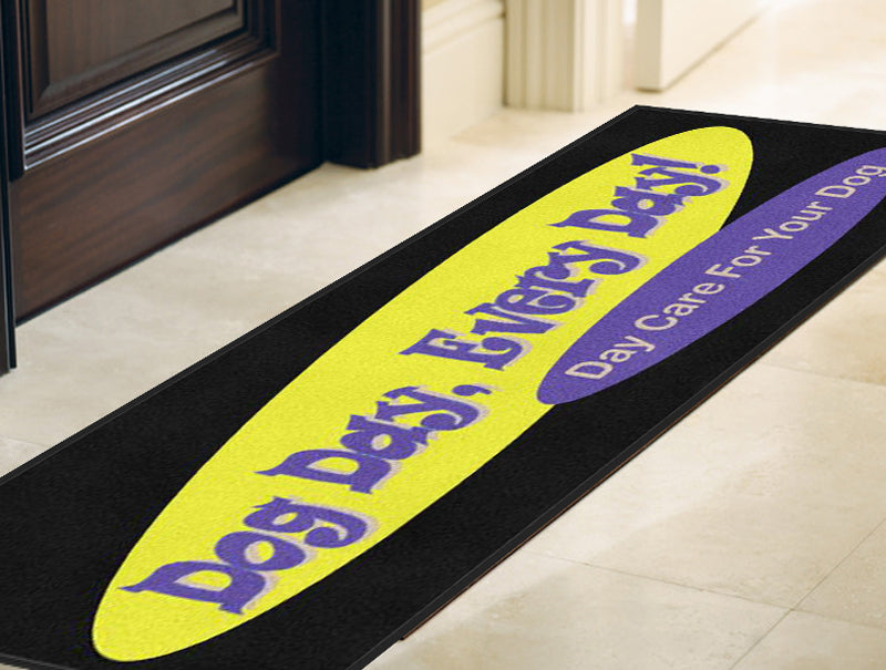 Dog Day Every Day 3 X 8 Rubber Backed Carpeted HD - The Personalized Doormats Company