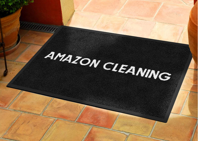 AMAZON CLEANING 2 X 3 Rubber Backed Carpeted - The Personalized Doormats Company