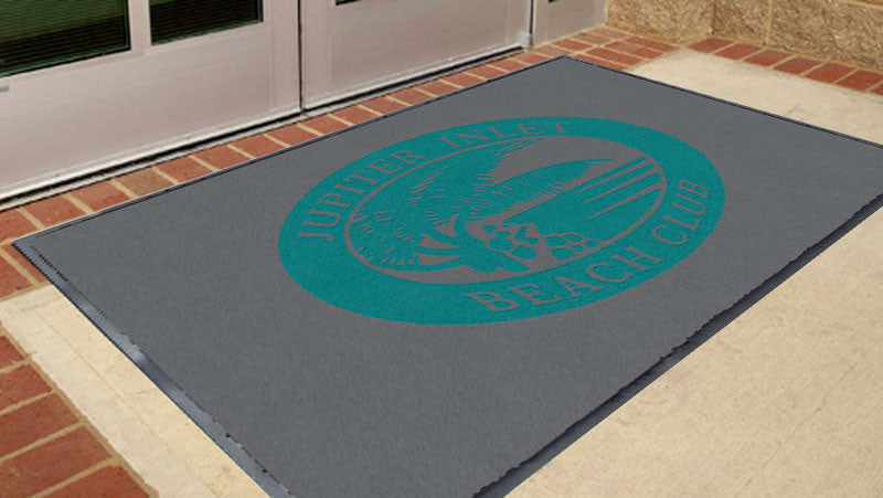 Beach Club 3 x 5 Flocked Olefin 2 Color - The Personalized Doormats Company