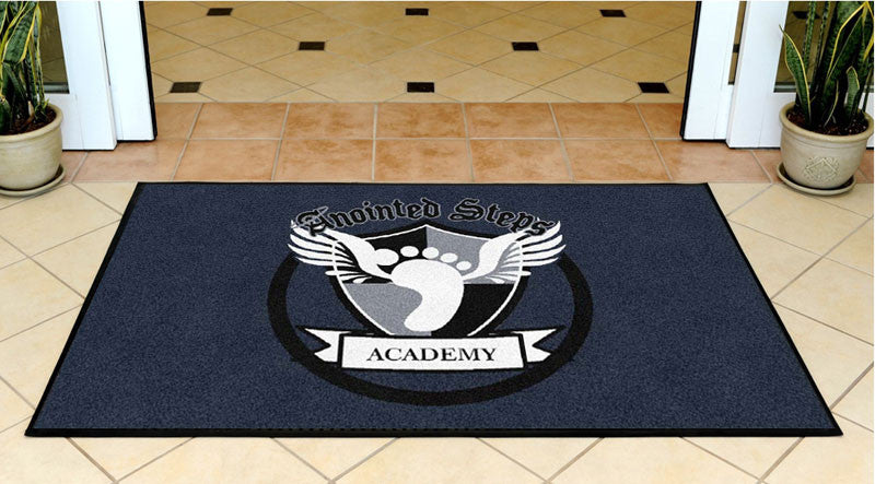 Anointed Steps Academy 3 X 5 Rubber Backed Carpeted HD - The Personalized Doormats Company