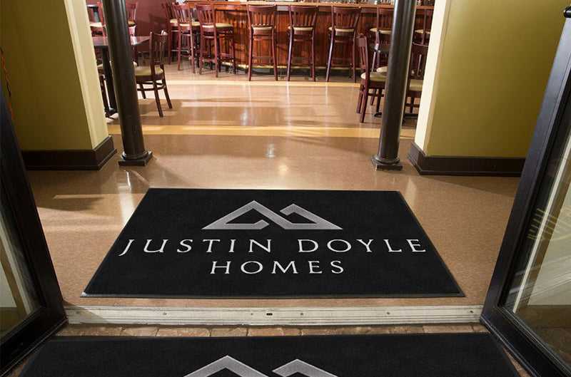 Justin Doyle Homes 4 X 6 Rubber Backed Carpeted HD - The Personalized Doormats Company