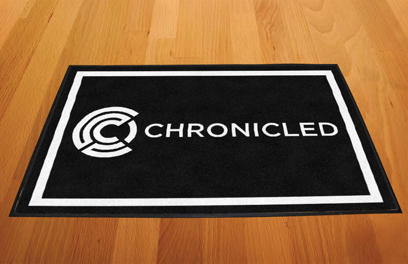 Chronicled 2 X 3 Rubber Backed Carpeted HD - The Personalized Doormats Company