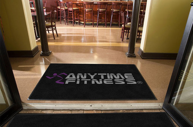anytime fitness 4 X 6 Rubber Backed Carpeted HD - The Personalized Doormats Company