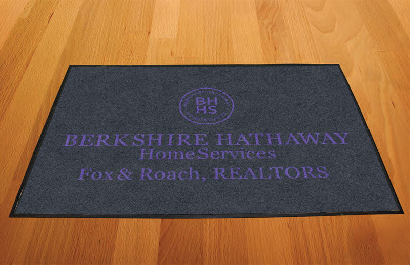 Berkshire Hathaway 2 X 3 Rubber Backed Carpeted HD - The Personalized Doormats Company