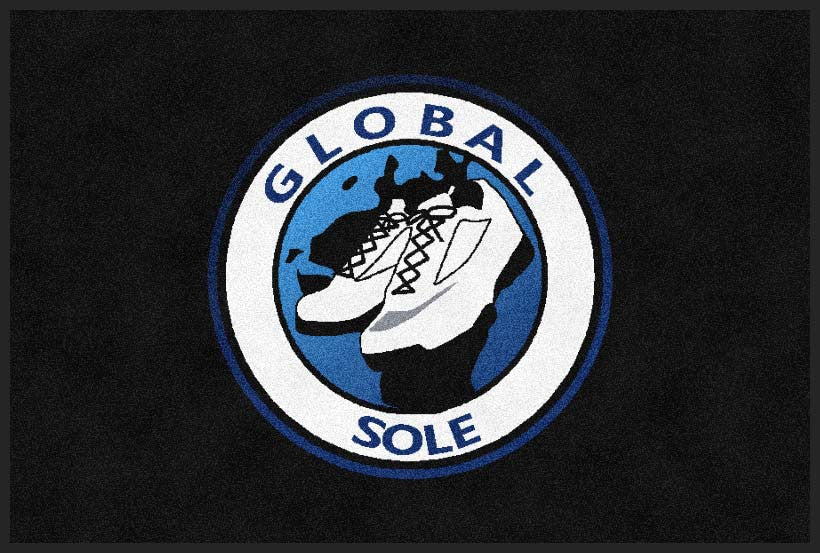 Globalsole 2 X 3 Rubber Backed Carpeted HD - The Personalized Doormats Company