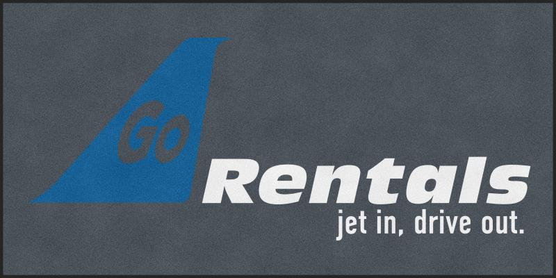 Go Rentals 6 X 12 Rubber Backed Carpeted HD - The Personalized Doormats Company
