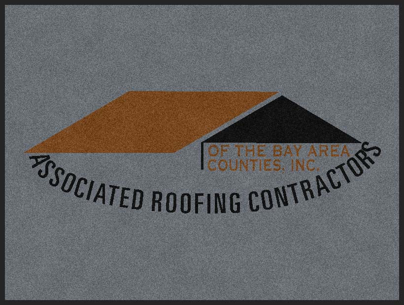ASSOCIATED ROOFING CONTRACTORS 3 X 4 Rubber Backed Carpeted HD - The Personalized Doormats Company