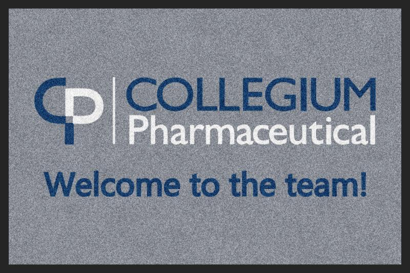 Collegium Pharmaceutical 2 X 3 Rubber Backed Carpeted HD - The Personalized Doormats Company